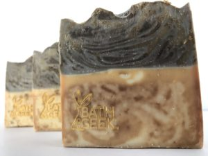 Brown Vanilla Sugar 100% Olive Oil Castile Soap cross-section