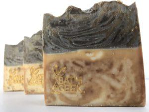 Brown Vanilla Sugar 100% Olive Oil Castile Soap cross-section