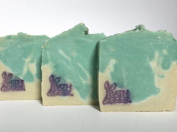 Jasmine (CP) 100% Olive Oil Castile Soap cross-section