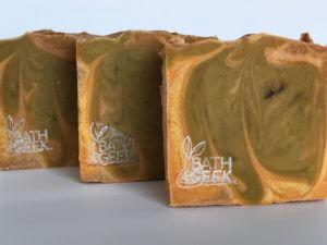 Pumpkin Cheesecake Soap - Close-Up
