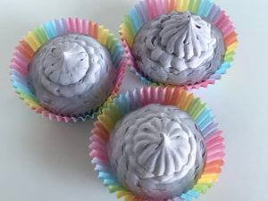 Whipped Fresh Linen Purple Cupcake Soap - Close-Up