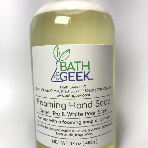 Green Tea & White Pear Foaming Liquid Soap