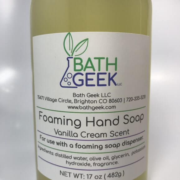 Vanilla Cream Foaming Hand Soap