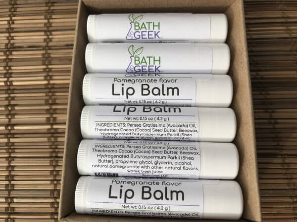 Pomegranate Lip Balm - Box View