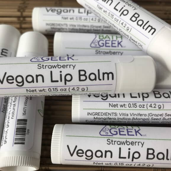 Strawberry Vegan Lip Balm - Close View