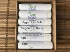 Cranberry Vegan Lip Balm - Box View