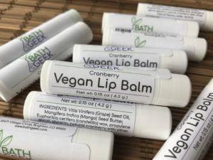 Cranberry Vegan Lip Balm - Close View