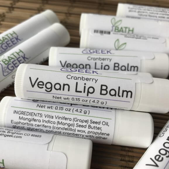 Cranberry Vegan Lip Balm - Close View