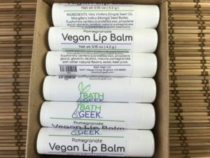 Pomegranate Vegan Lip Balm - Box View