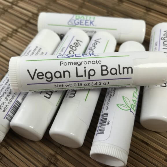 Pomegranate Vegan Lip Balm - Close View