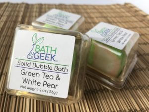 Green Tea & White Pear Bubble Bath - Box View