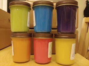 All six non-UV colors, back
